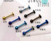 圓珠八色可選Titanium Labret