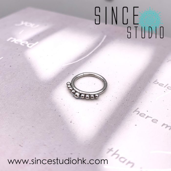 Beads Clicker Rings for Daith and Septum