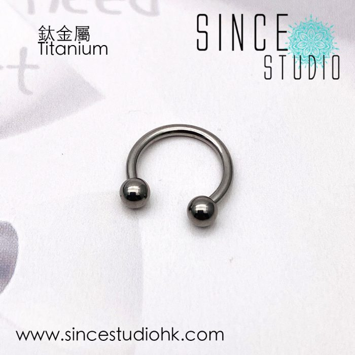 Horseshoe 8mm titanium