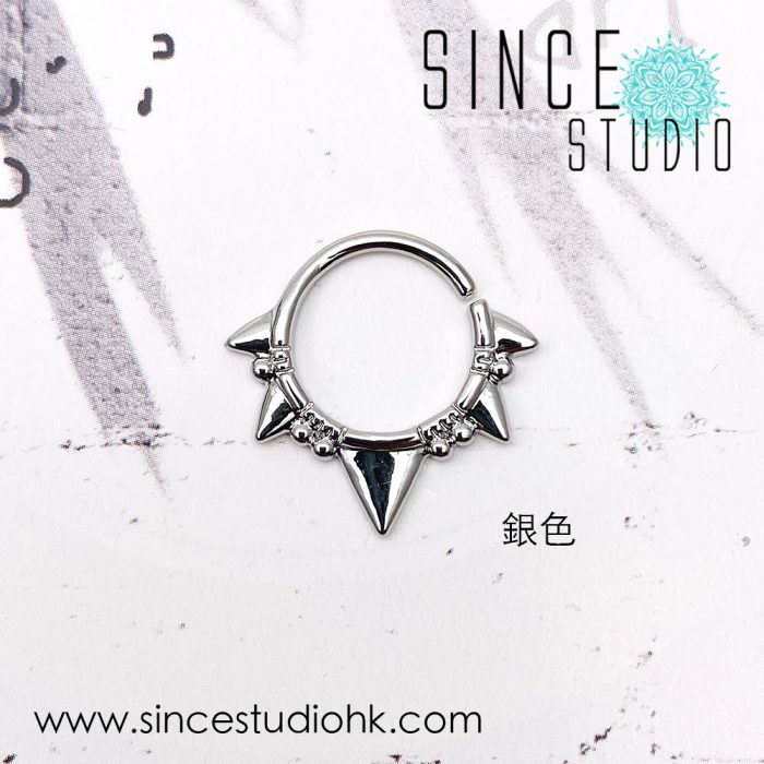 Punk style Bendable ring銀色