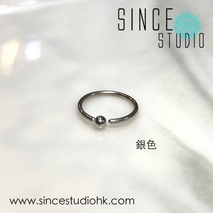 Bead-end Bendable Ring銀色