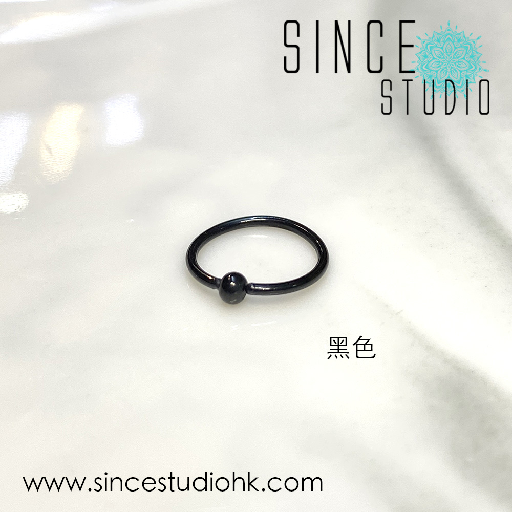 Bead-end Bendable Ring黑色